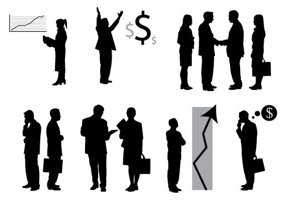 16 Business People Silhouette Vector Free Images