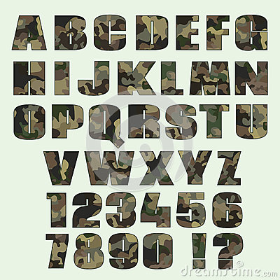 14 Graphic Military Type Fonts Images
