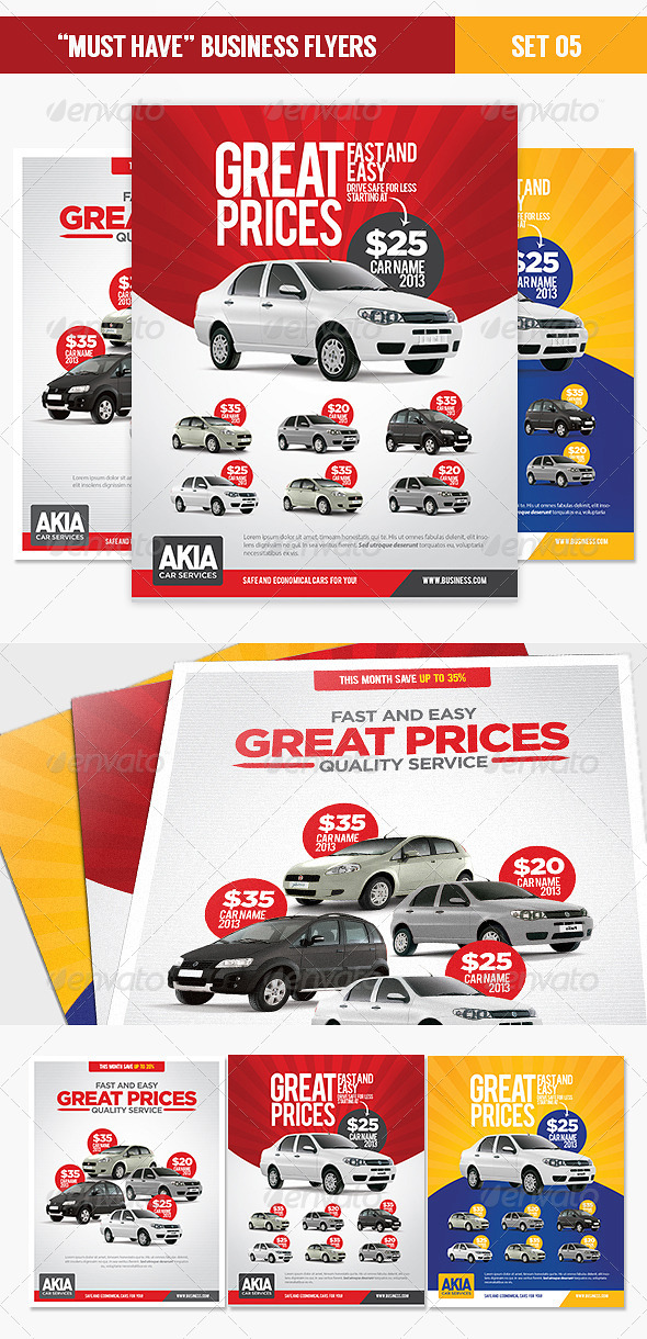 Car Service Business Flyer Templates