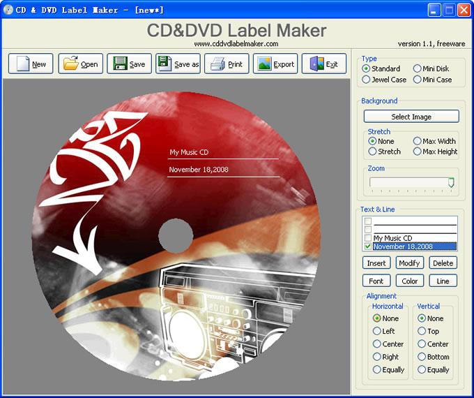 CD DVD Label Maker Software Free