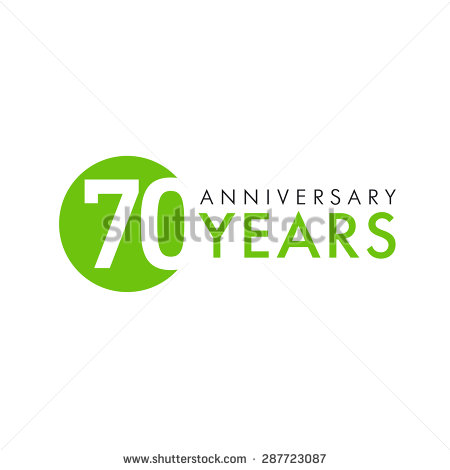 Celebrating 70th Anniversary Logo