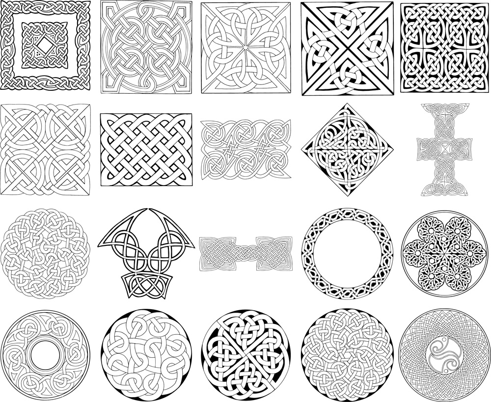13 Celtic Knot Line Vector Images