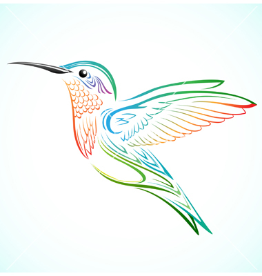 9 Hummingbird Vector Art Images