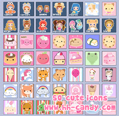 Cute Kawaii Icons