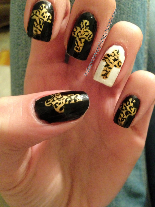 Cute Nail Design with Crosses