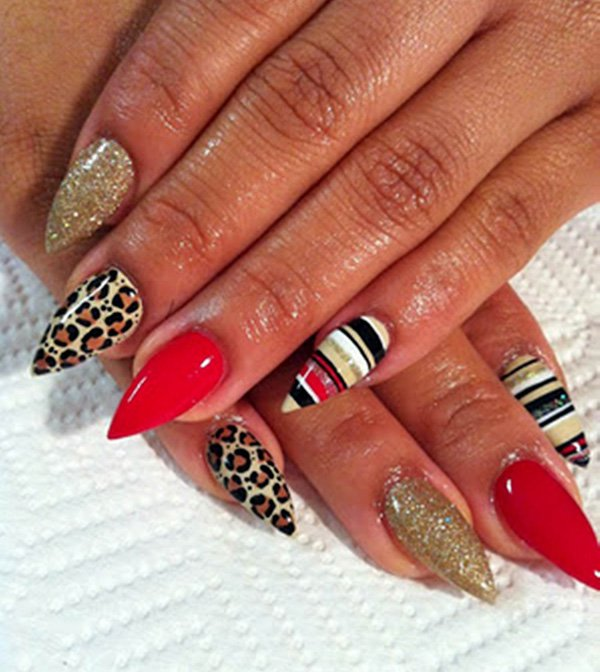 Cute Pointy Nails Designs Tumblr