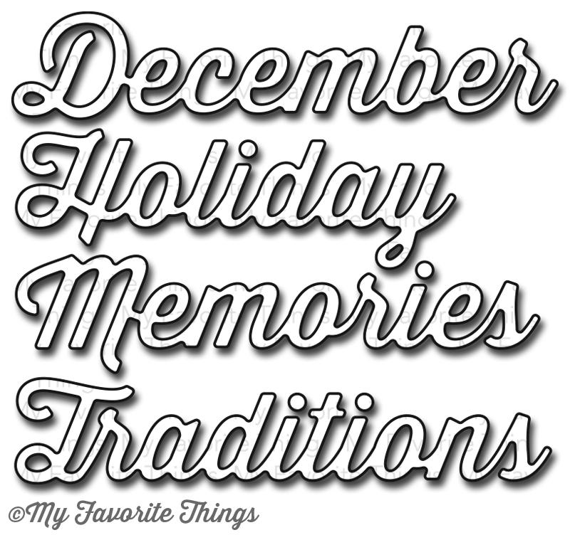 8 December Holiday Font Images