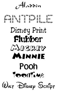 12 Disney TrueType Font Images