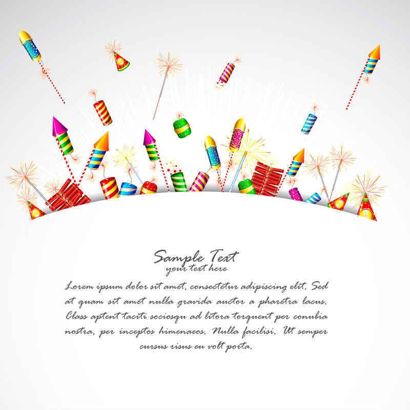 Diwali Fireworks Clip Art