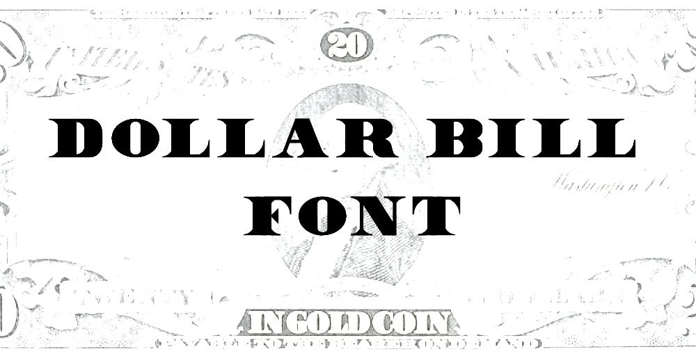 12 Font Like Dollar Images
