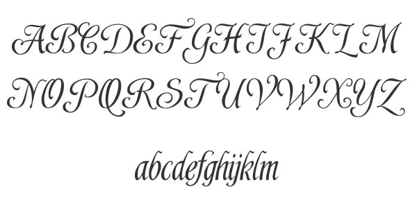 Simple calligraphy fonts images free