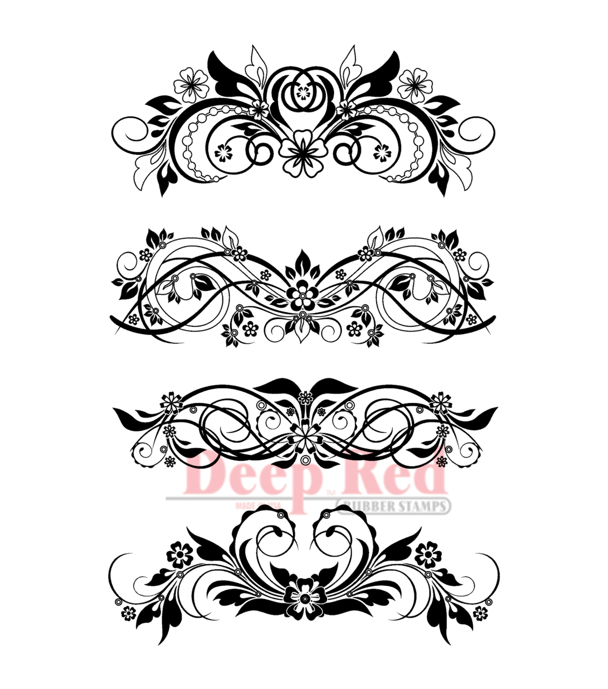 16 Red Flourish Vectors Images