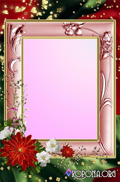 Flower Frame PSD Template