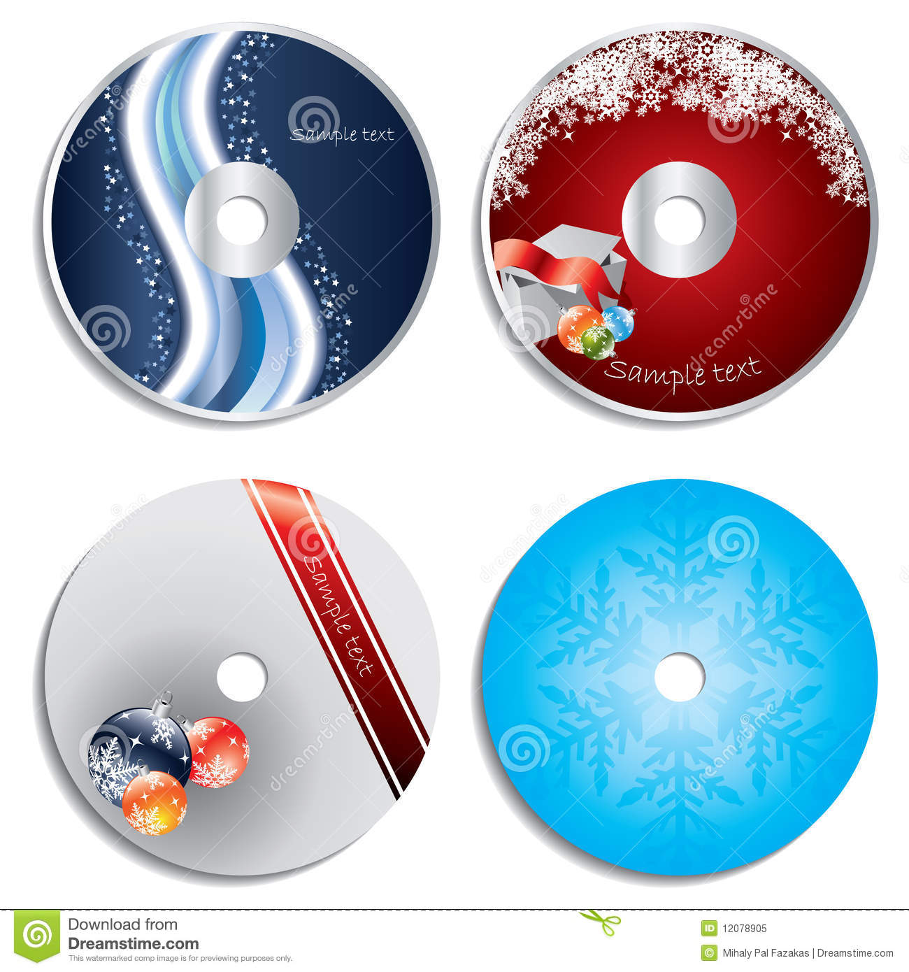 Free CD Label Designs Christmas