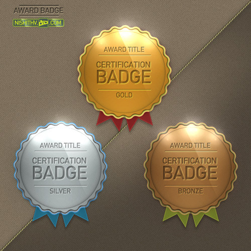 8 Tree Badge PSD Images