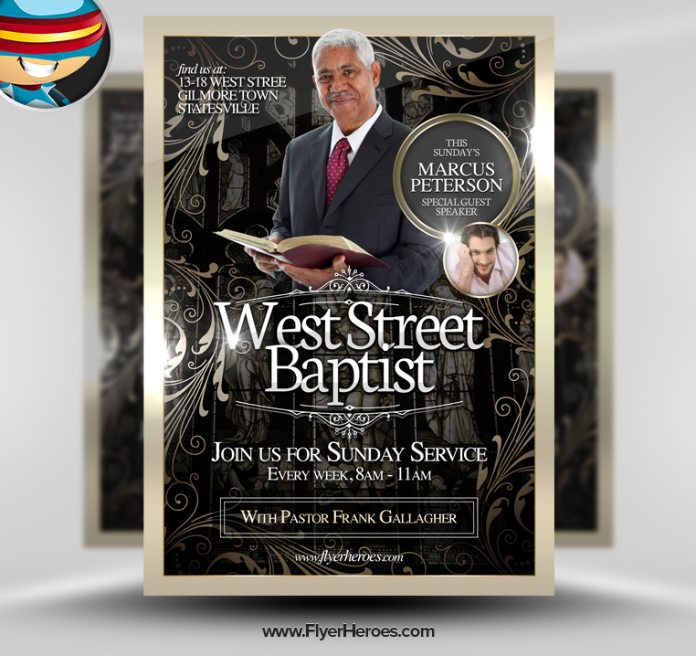 14 church building psd images church building exterior design church flyers free templates for Free church flyer psd