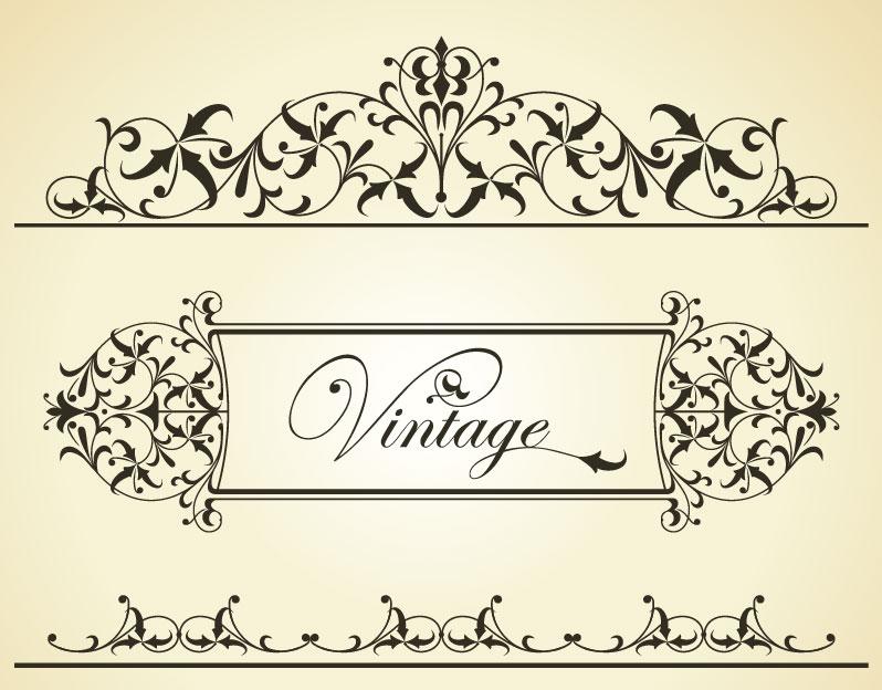 Free Vector Borders Vintage