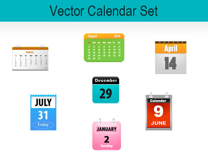 15 Round Calendar Vector Icon Free Images