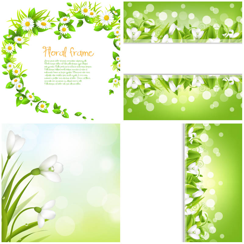 Free Vector Green Picture Frame