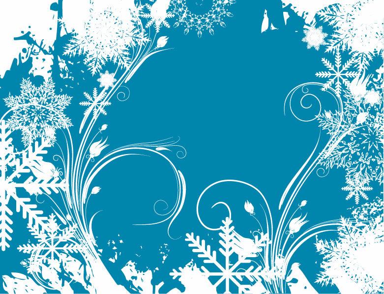 15 Winter Swirls Vector Images