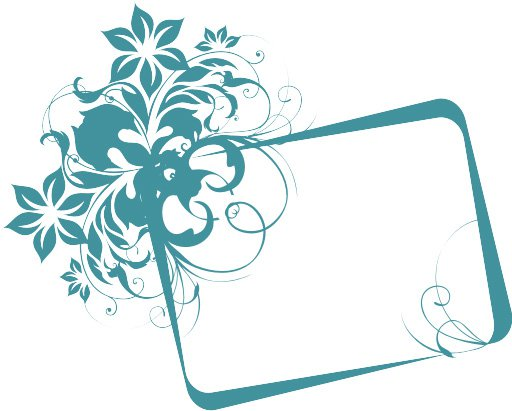 Graphic Design Flower Vector Frame