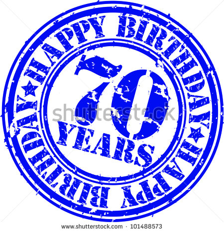 Happy 70th Birthday Clip Art