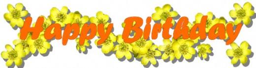 15 Orange Happy Birthday Font Images