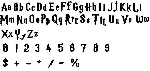 Harry Potter Font Cross Stitch
