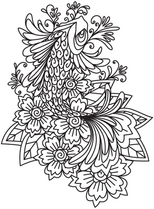 Indian Fish Design Coloring Pages