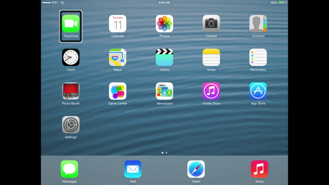 iOS 7 iPad Home Screen