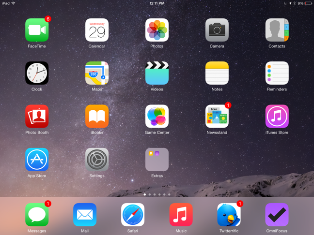 iPad Home Screen iOS 8