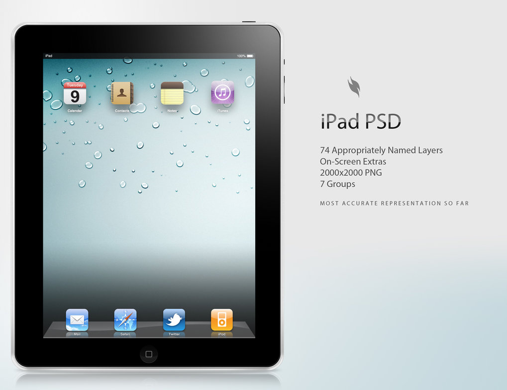 10 IPad PSD Product Images