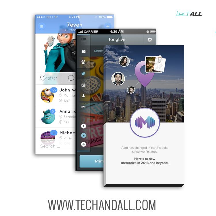 iPhone App Screen Mockup