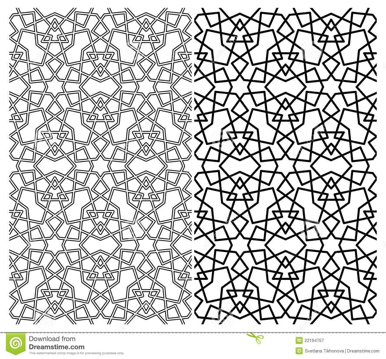 7 Islamic Geometric Pattern Vector Images