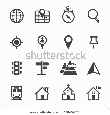 8 Location Vector White Images