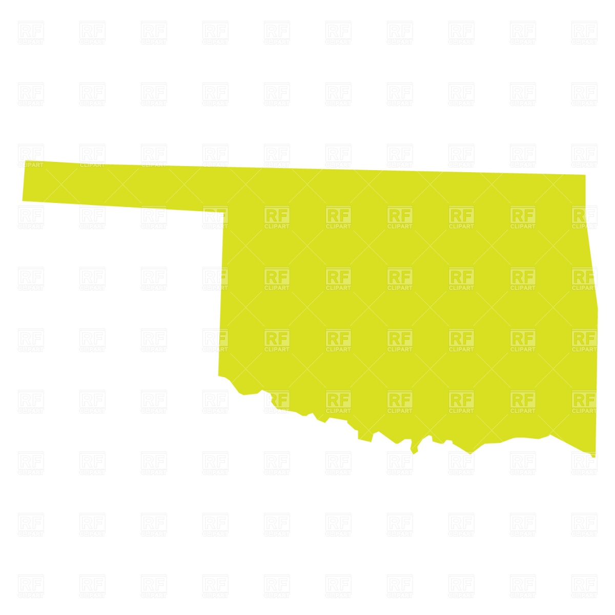 Oklahoma State Map Vector Art