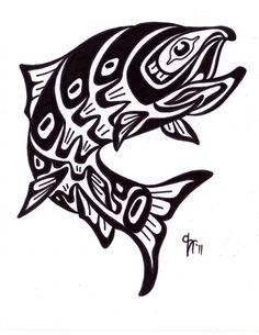 Pacific Northwest Tribal Salmon Tattoo
