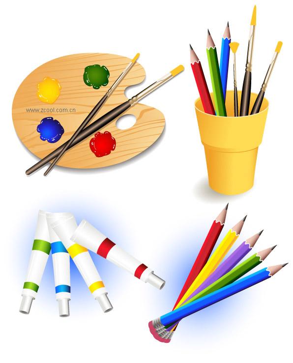 9 Paint Palette Doodle Vector Images