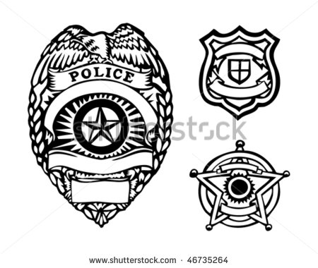 12 Generic Police Badge Vector Images