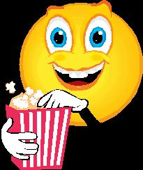 Bildresultat för popcorn emoticon