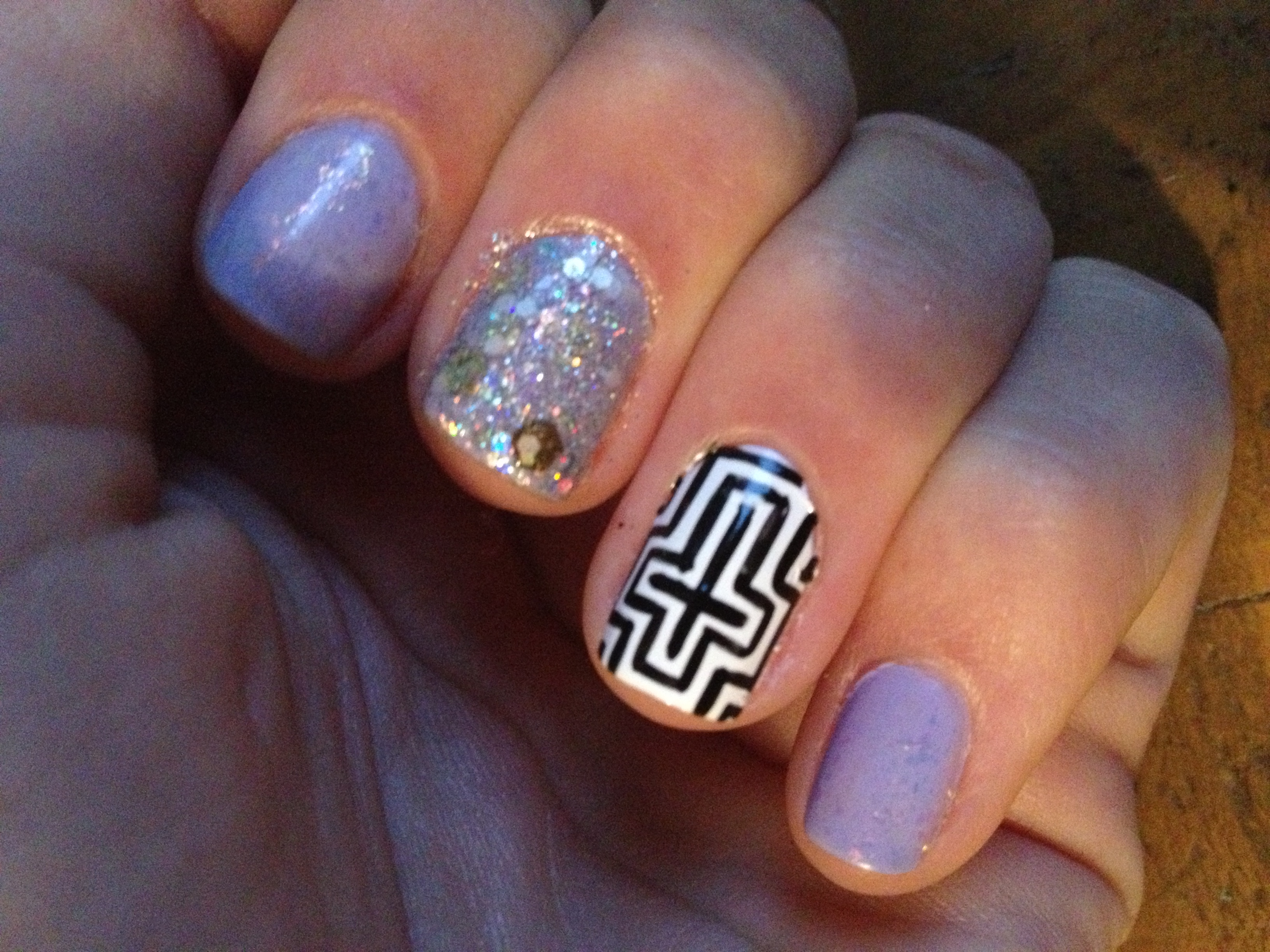 Pretty Nail Designs with Crosses