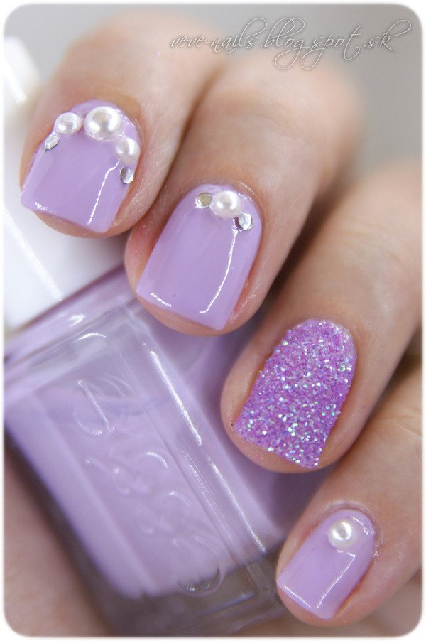 Purple Nail Designs with Gems