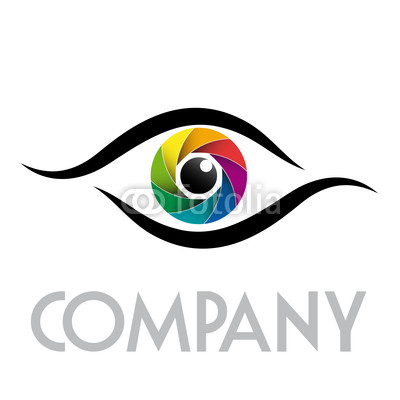 13 Rainbow Eye Logos Vector Images