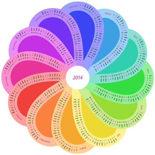 Round Calendar 2014