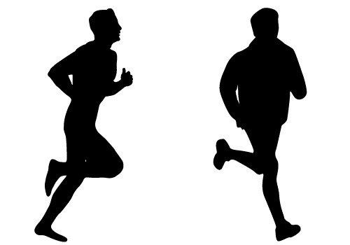 15 Silhouetted Runners Vector Files Images