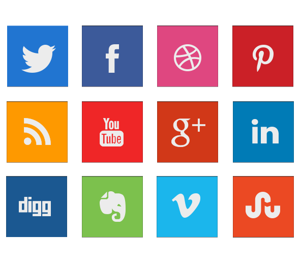 8 Social Media Icons Transparent Images