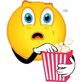 Smiley Eating Popcorn