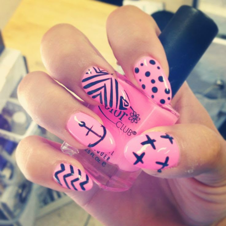 Stiletto Nail Designs with Crosses