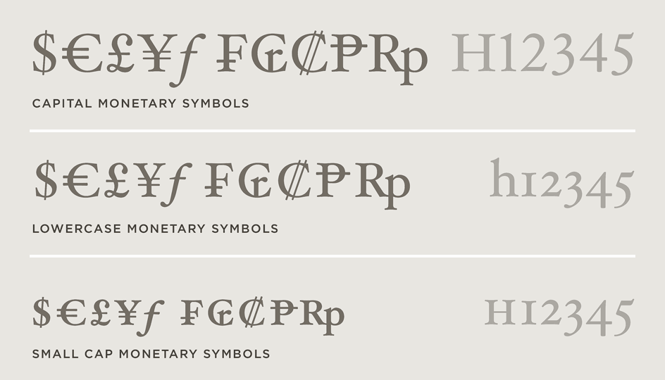 Text Features Special Fonts