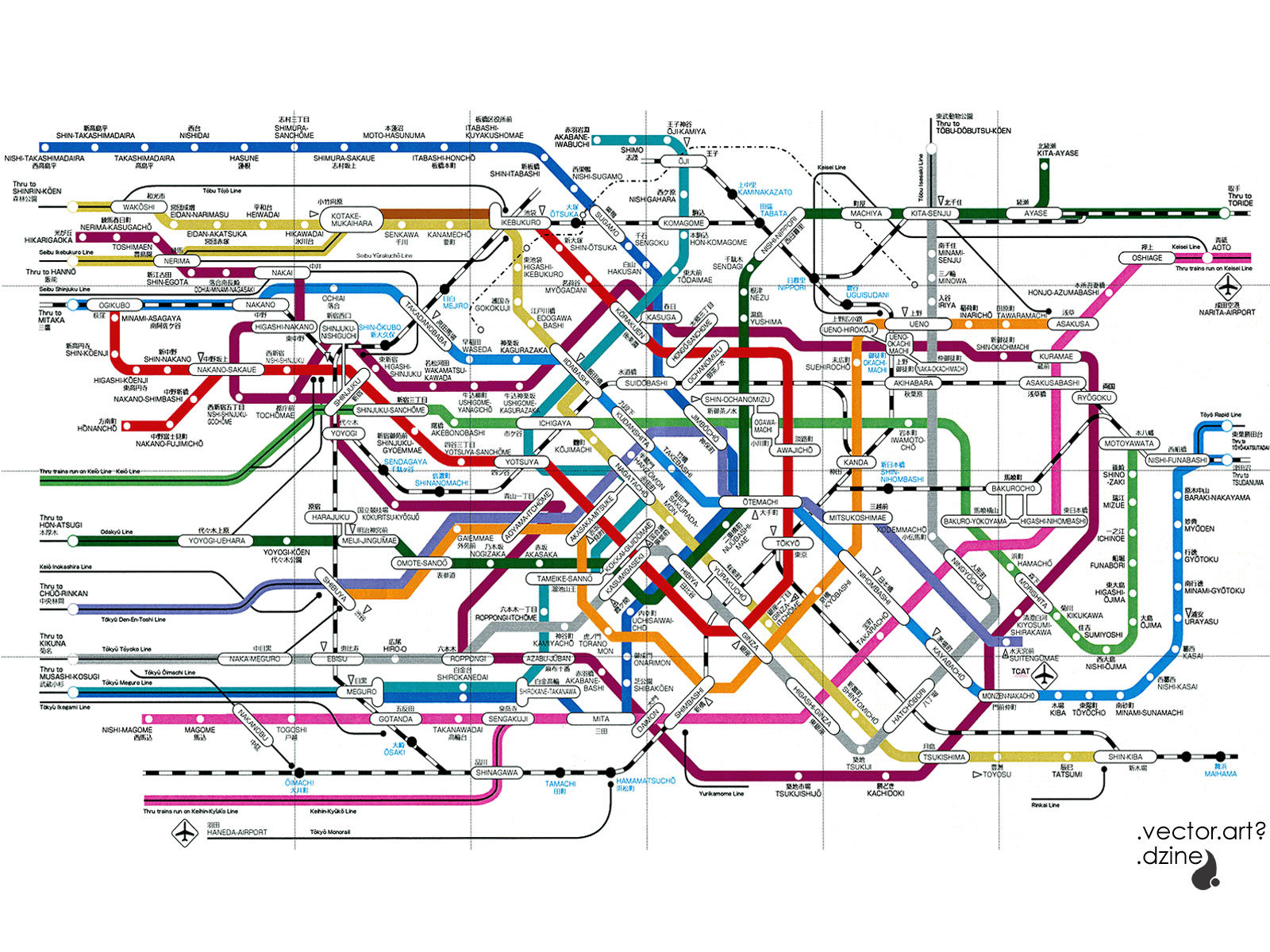 Tokyo Subway Map Art.18 Map Vector Art Images Free Vector World Map Free Vector City